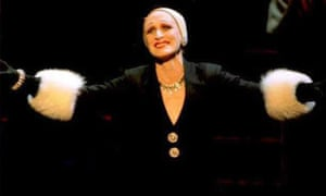 Glenn Close at the Minskoff Theater in New York in the role of Norma Desmond.
