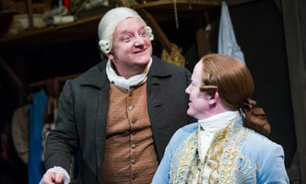 Simon Russell Beale with Ian Kelly in Mr Foote's Other Leg at Hampstead theatre, London.