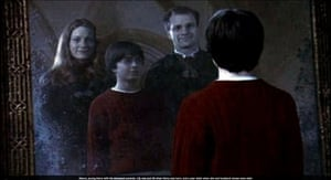 Potter meets his parents in the Mirror of Erised in Harry Potter and the Philosopher's Stone