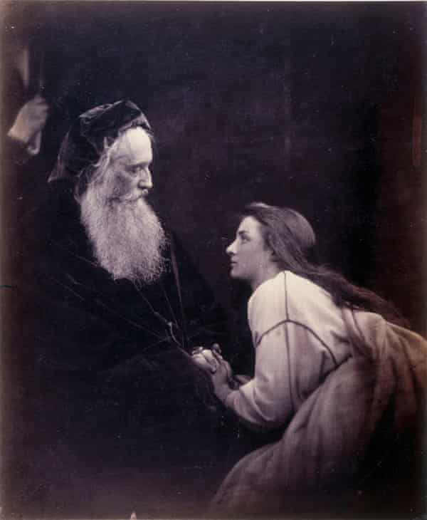 Prospero and Miranda, c 1865, by Julia Margaret Cameron, with sitters Sir Henry Cotton and Mary Ryan.