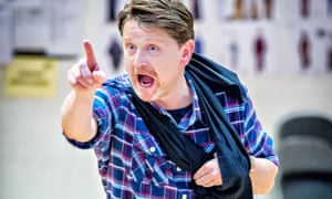 Reece Dinsdale in rehearsals for Richard III.