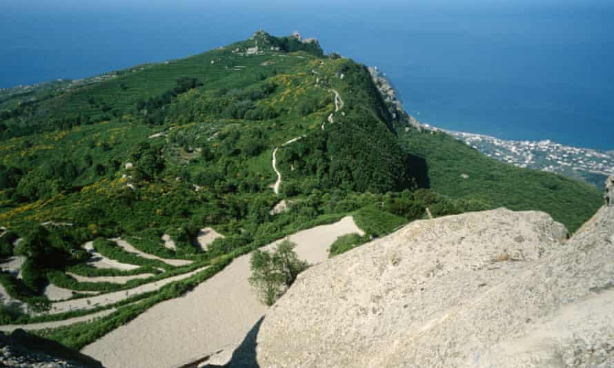 View from the top of Monte Epomeo, Ischia.