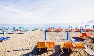 The beach at Maronti, Ischia.