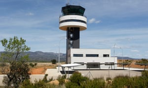 The control tower of the Costa Azahar airport