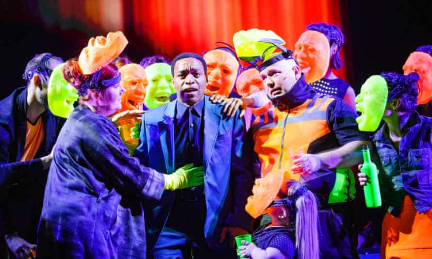 Chiwetel Ejiofor in Everyman, adapted by Carol Ann Duffy for the National Theatre.
