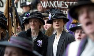 Anne-Marie Duff and Carey Mulligan in Suffragette.