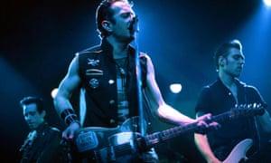 Clash City Rockers … Mick Jones, Joe Strummer and Paul Simonon onstage in 1981.
