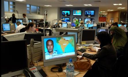 Al-Jazeera International's London bureau in Knightsbridge, London.