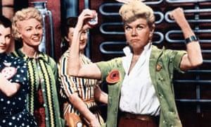 Still retired ... Doris Day in 1957's The Pajama Game.