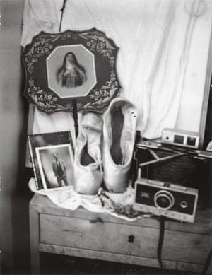 A Polaroid shot taken in Smith's apartment: