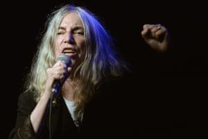 Patti Smith performs in Zurich, Switzerland,  September 2015.