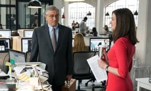 Robert De Niro and Anne Hathaway in The Intern