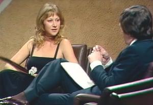 Helen Mirren being interviewed by Michael Parkinson in 1975