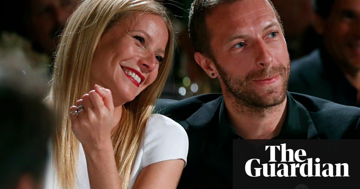 Gwyneth Paltrow Grinning Next To A Smiling Chris Martin