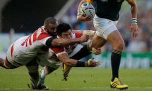 South Africa v Japan, Rugby World Cup match