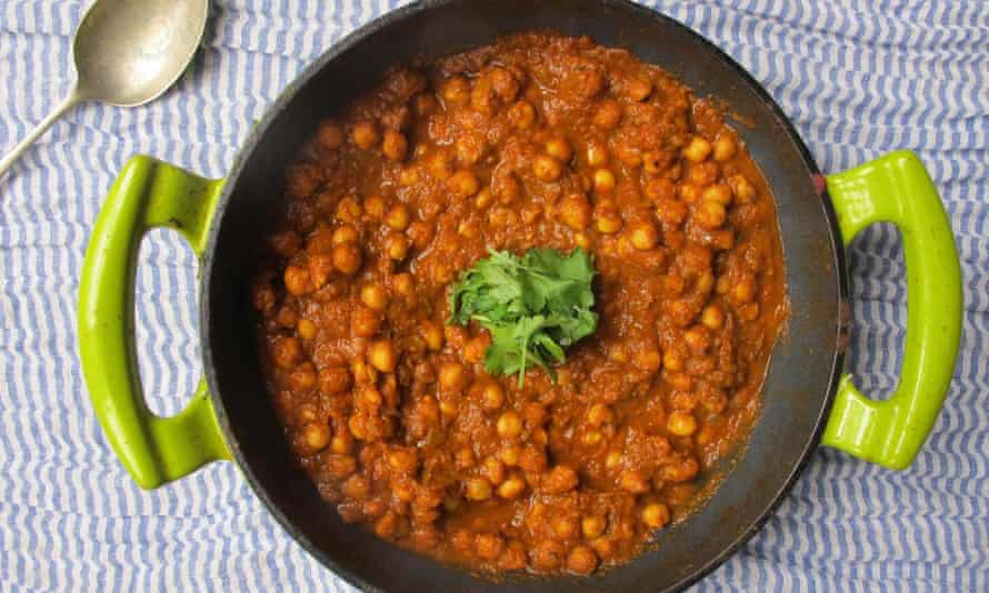Tangy and comforting … chana masala.