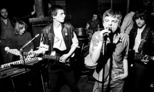 The Fall, photographed in 1977 with Mark E Smith front right, were one of Peel's favourite bands.