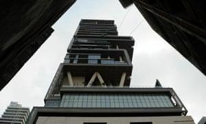 The 27-storey Antilia building, Mumbai