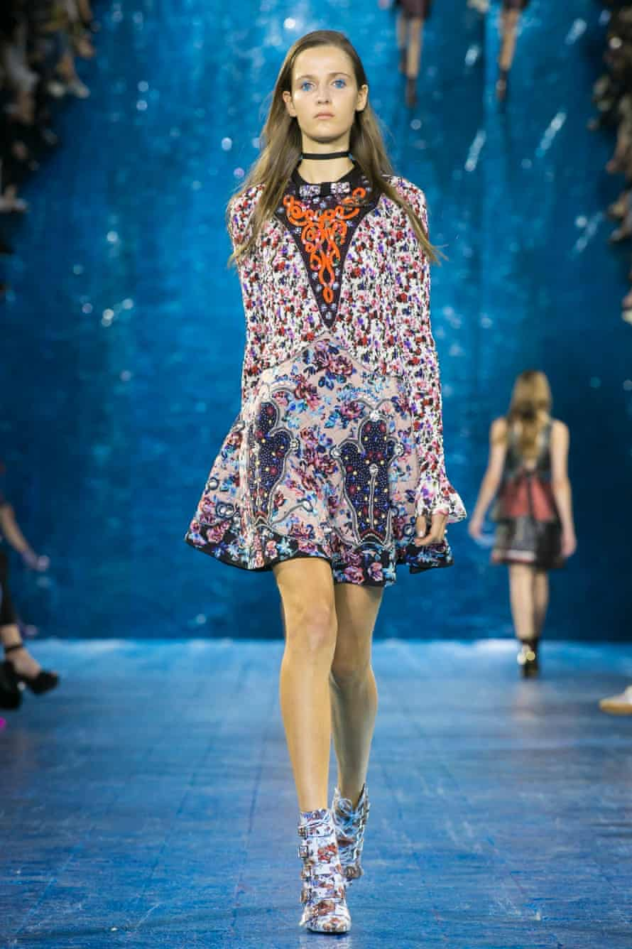 'If you are wearing something that you feel amazing in, your outlook tends to become more positive': Mary Katrantzou SS16 catwalk show.