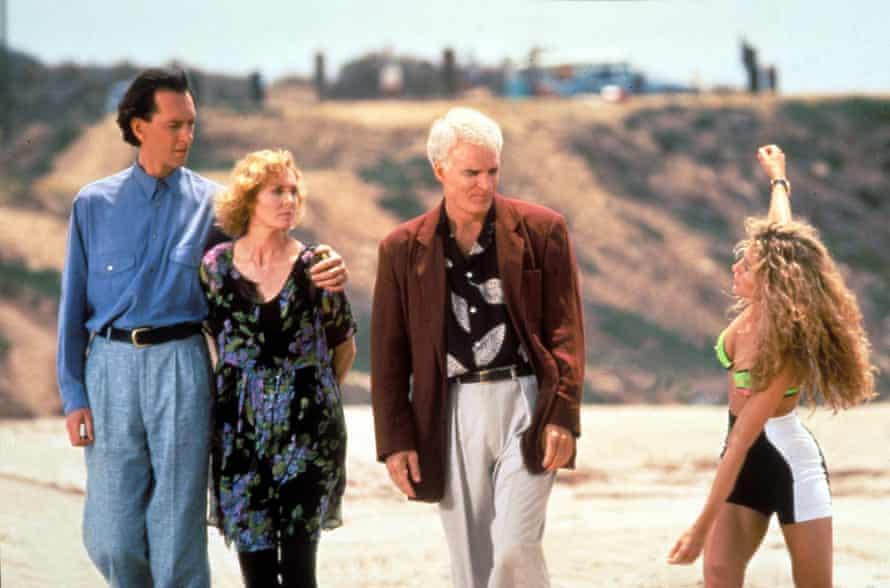 Richard E Grant, Victoria Tennant, Steve Martin and Sarah Jessica Parker in <em>LA Story</em> (1991).