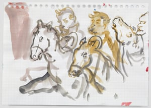 Negress Notes, 2015 by Kara Walker; watercolour and graphite on paper.