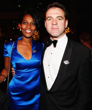 Ferguson with his wife, Ayaan Hirsi Ali, at Time's gala for the 100 most influential people in the world in New York, 2009.