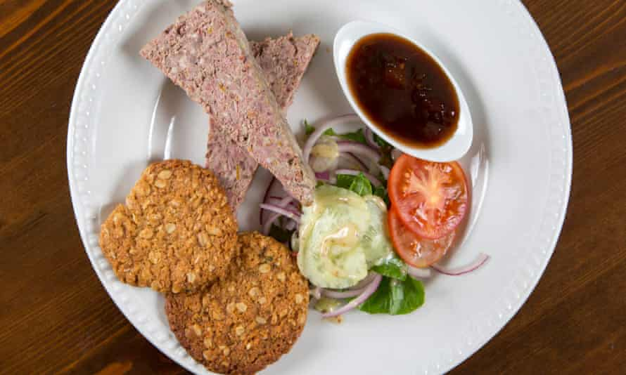 Pork orange and cognac pate with homemade oatcakes