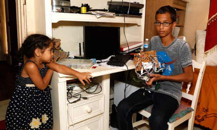 Ahmed Mohamed, who was arrested after taking a homemade clock to school in the US