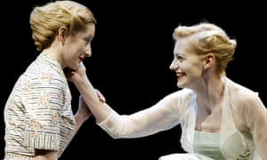 Lauren Ward as Perdita, Anastasia Hille as Hermione in the Roundhouse production.