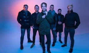 No Devotion … With Collect Record boss Geoff Rickly, front.