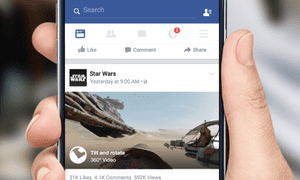 Facebook will now show 360-degree videos in its news feed across devices.