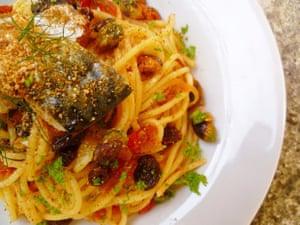Rachel Kelly's intriguing (and tasty) spaghetti with sardines and raisins.