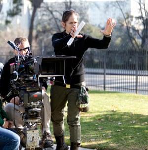 Director Lexi Alexander on set