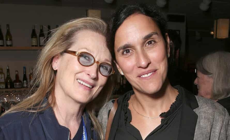Director Sarah Gavron with Meryl Streep at the premiere of Suffragette in Telluride, Colorado