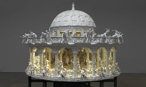 Mat Collishaw's 3D zoetrope All Things Fall, photographed in the New Art Gallery Walsall