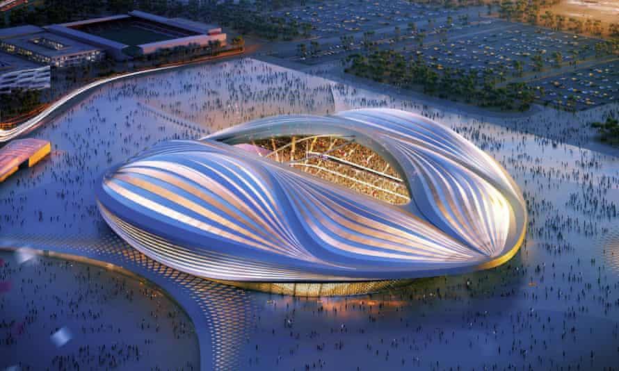 Zaha Hadid's design for the Qatar 2022 World Cup's al-Wakrah stadium.