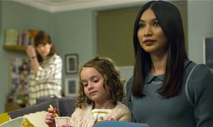 Synth stare … Gemma Chan as Anita with the Hawkins family in Humans