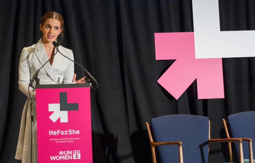 Emma Watson speaks at a HeforShe event sponcered by UN Women.