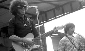 Ray Warleigh, right, plays with Alexis Korner at Hyde Park in 1969 at the Rolling Stones concert in memory of the then recently deceased band founder, Brian Jones.