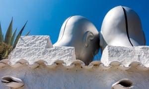 Sculptures in Salvador Dali's garden at Portlligat.