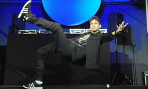 Dynamo performs at the launch party of Magician Impossible.