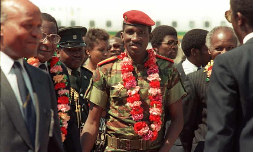 Former Burkina Faso president, Thomas Sankara, in 1986.
