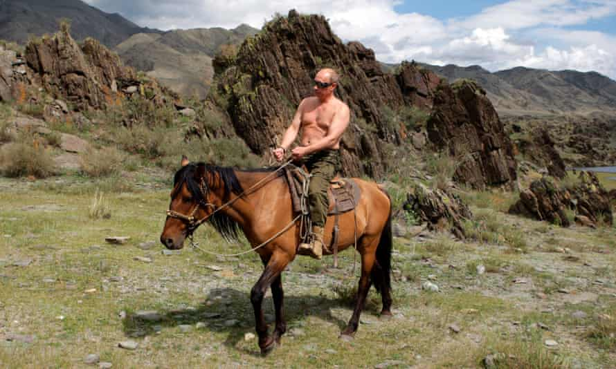 Russia's Prime Minister Vladimir Putin. Well ... he's got a nice horse.