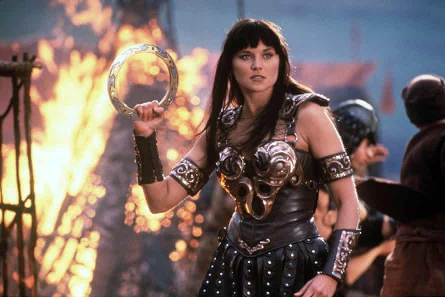 Lucy Lawless as Xena Warrior Princess. You wouldn't mess with her, would you?