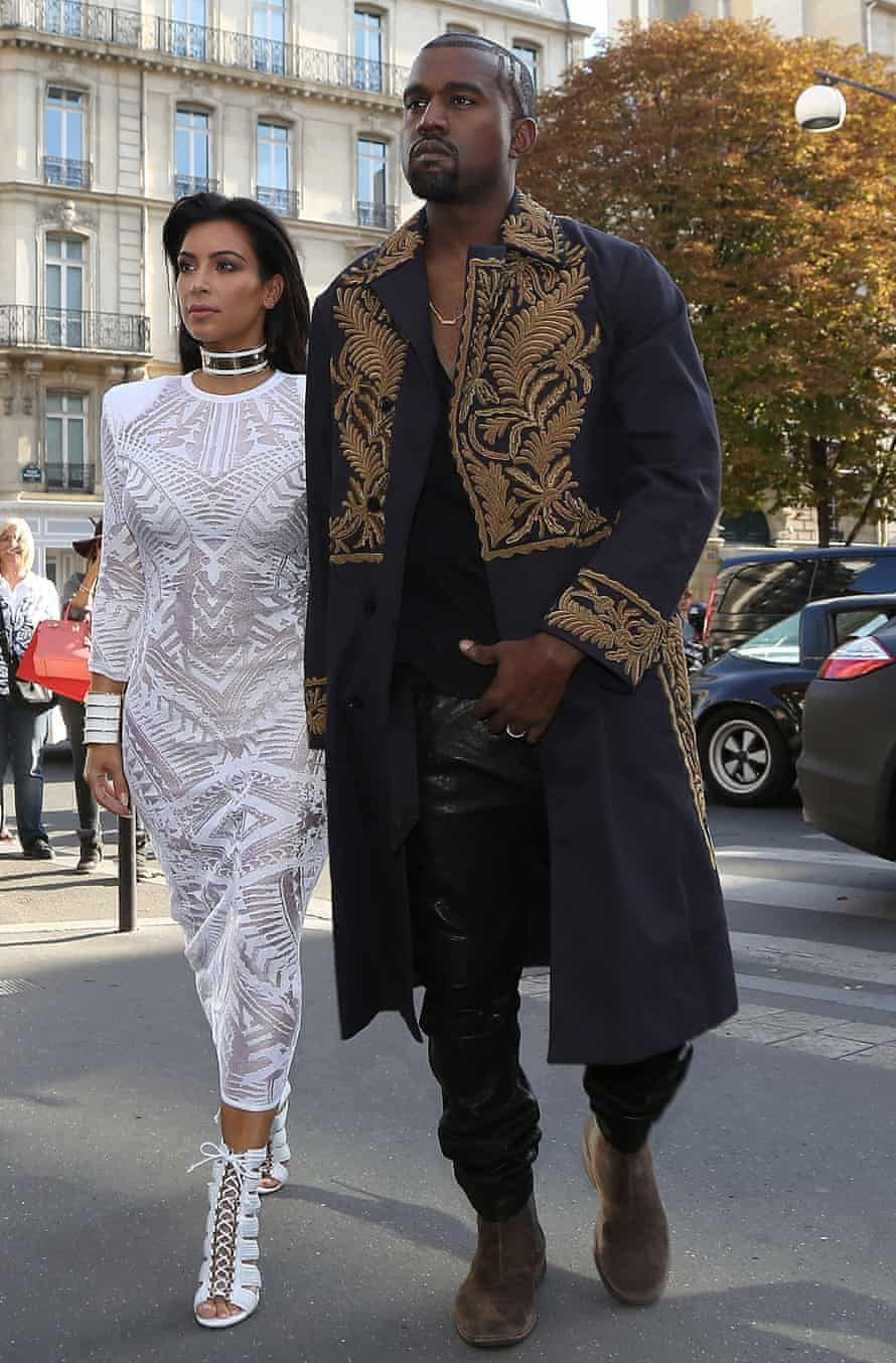 Kim Kardashian and husband Kanye West in Paris