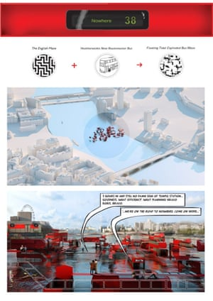 Floating Tidal Exploded Bus Maze (Chris Doray Studio)
