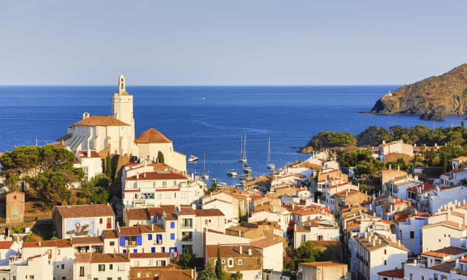 Cadaqués city on Catalonia's Costa Brava coast.