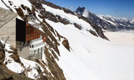 Jungfraujoch railway station, the highest railway station in Europe.