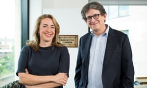 Alan Rusbridger with successor Kath Viner: 'We're on the iWatch, but we're also still in the corner shop.'
