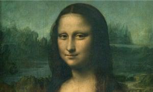 The Mona Lisa in Paris.